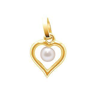 Anhänger Frau C? Ihr in gelb gold 750/1000 und Kultur von 4 mm Süßwasser Perle