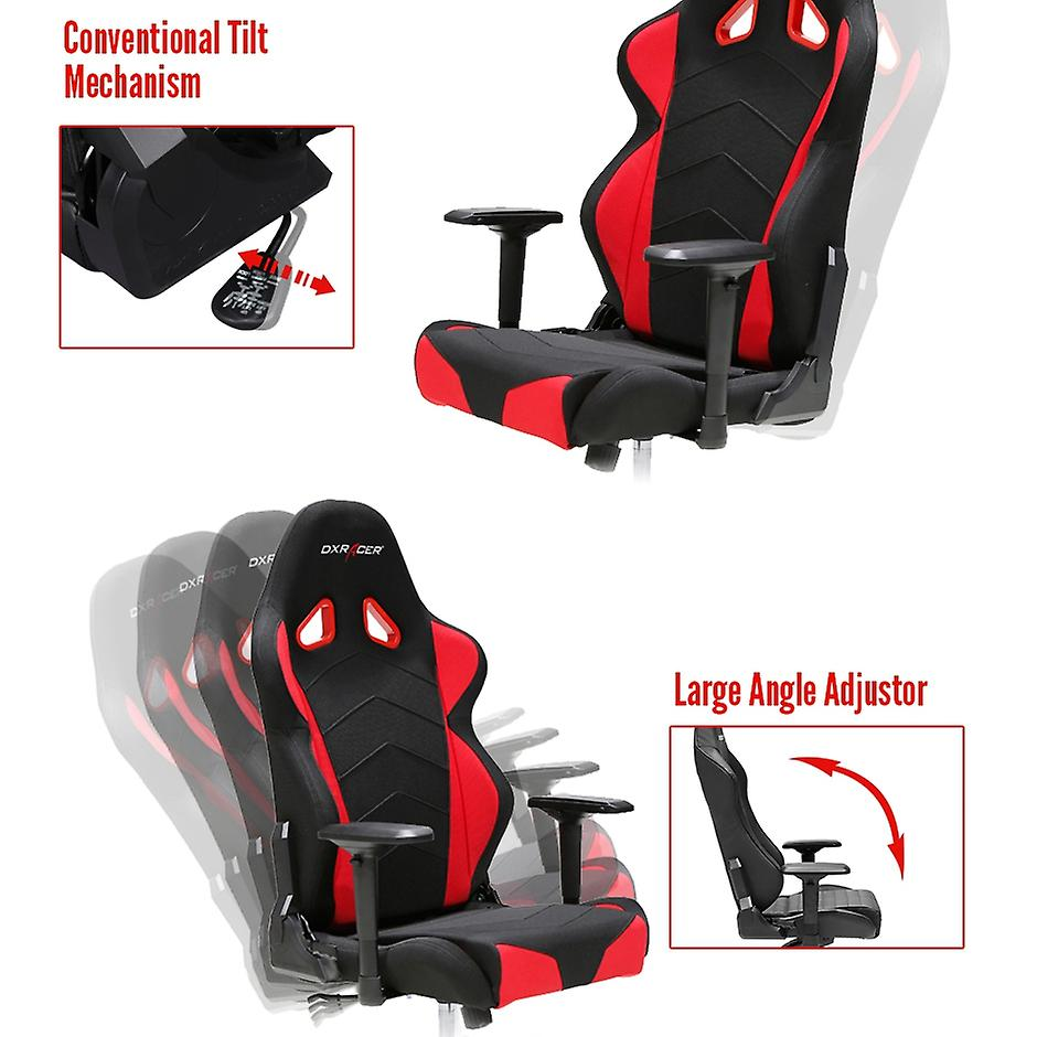 DX Racer DXRacer OH/TS30/NR Big and Tall Office Chairs For Heavy People Strong Mesh(Black/Red)