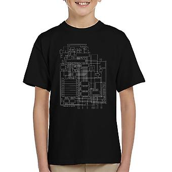 Commodore 64 Computer Schematic Kid's T-Shirt