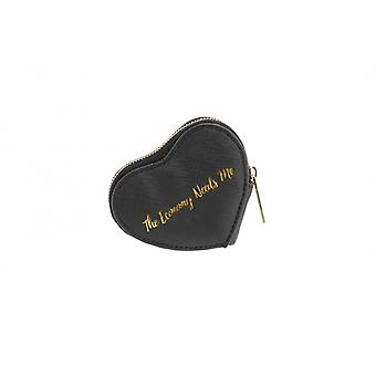 CGB Giftware Willow And Rose The Economy Needs Me Black Heart Coin Purse