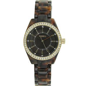 Fossil ladies watch resin strap watch stainless steel rhinestone BQ1196