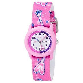 Timex Kids Pink Ballerina Analogue Strap T7B151 Watch