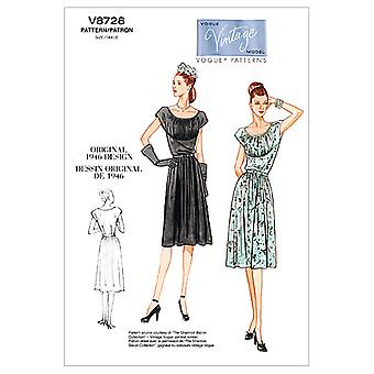 Misses' Dress and Belt-BB (8-10-12-14) -*SEWING PATTERN*