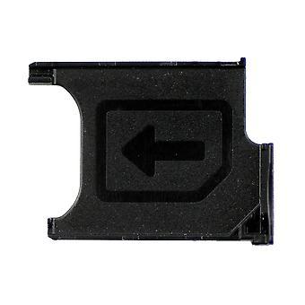 For Sony Xperia Z1 og Z1 kompakt SIM-kort bakke - sort - 1272-5201