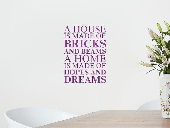 A house is made of Wall Art Sticker - Purple