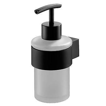 Liquid Soap Tempered Glass Dispenser Bathroom Black Powder Coated Zamak