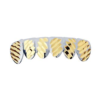 Silver Grillz - one size fits all - Diamond cut IV - bottom
