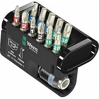Bit set 12-piece Wera Bit-Check 12 Stainless 1 05057425001 Pozidriv, Phillips, TORX socket, Allen