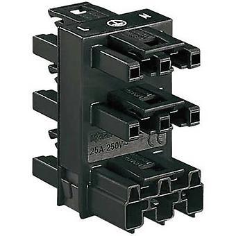 Distributore di alimentazione alimentazione spina - presa, presa, presa, presa di rete, numero totale di socket di rete di pin: 2 + PE nero WAGO 1/PC