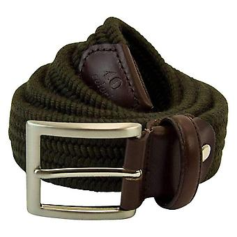 40 Colori Elasticated Melange Belt - Green