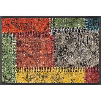 lavado + parches vendimia secos alfombra 40 x 60 cm, alfombra lavable