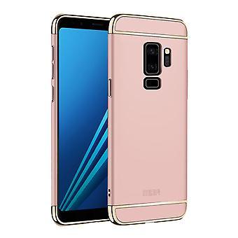 Mobiltelefon täcker fallet för Samsung Galaxy S9 stötfångare 3 i 1 lock krom ros guld