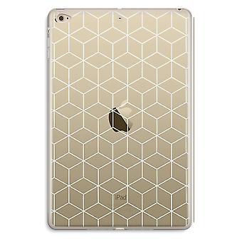 iPad Mini 4 Transparent Case (Soft) - Cubes black and white