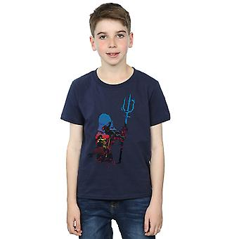 DC Comics Boys Aquaman Battle sylwetka T-Shirt