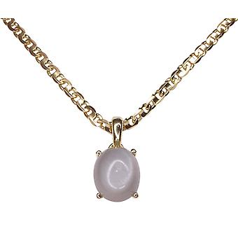 Gold Pendant with grey Moonstone