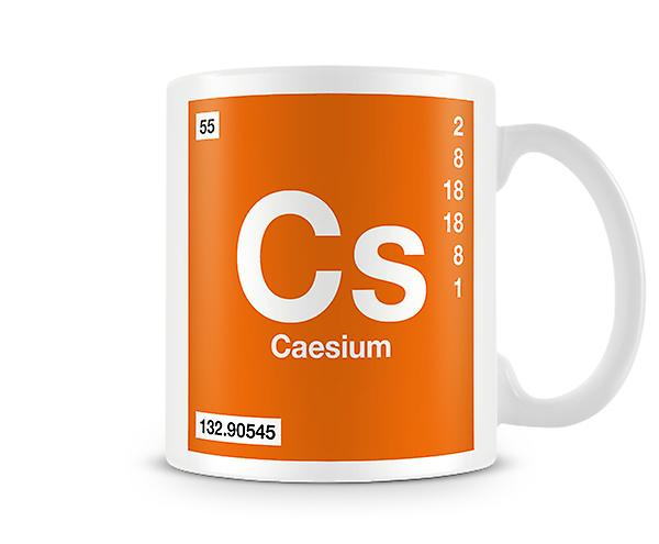 Symbole ScientifiqueMettant Vedette Élément Mug Imprimé 055 CsCésium En iuXPkZO