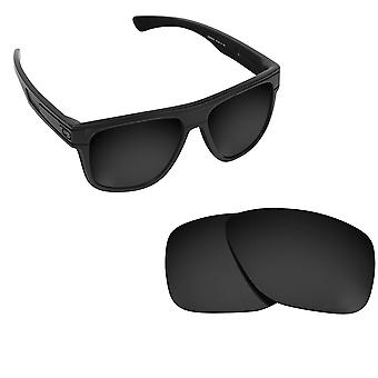 BREADBOX Replacement Lenses Polarized Black by SEEK fits OAKLEY Sunglasses