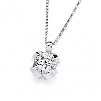 Cavendish French Silver and CZ pendant without Chain