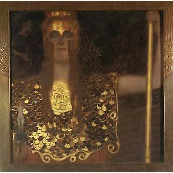Pallas Athene, Gustav Klimt, 75x75cm