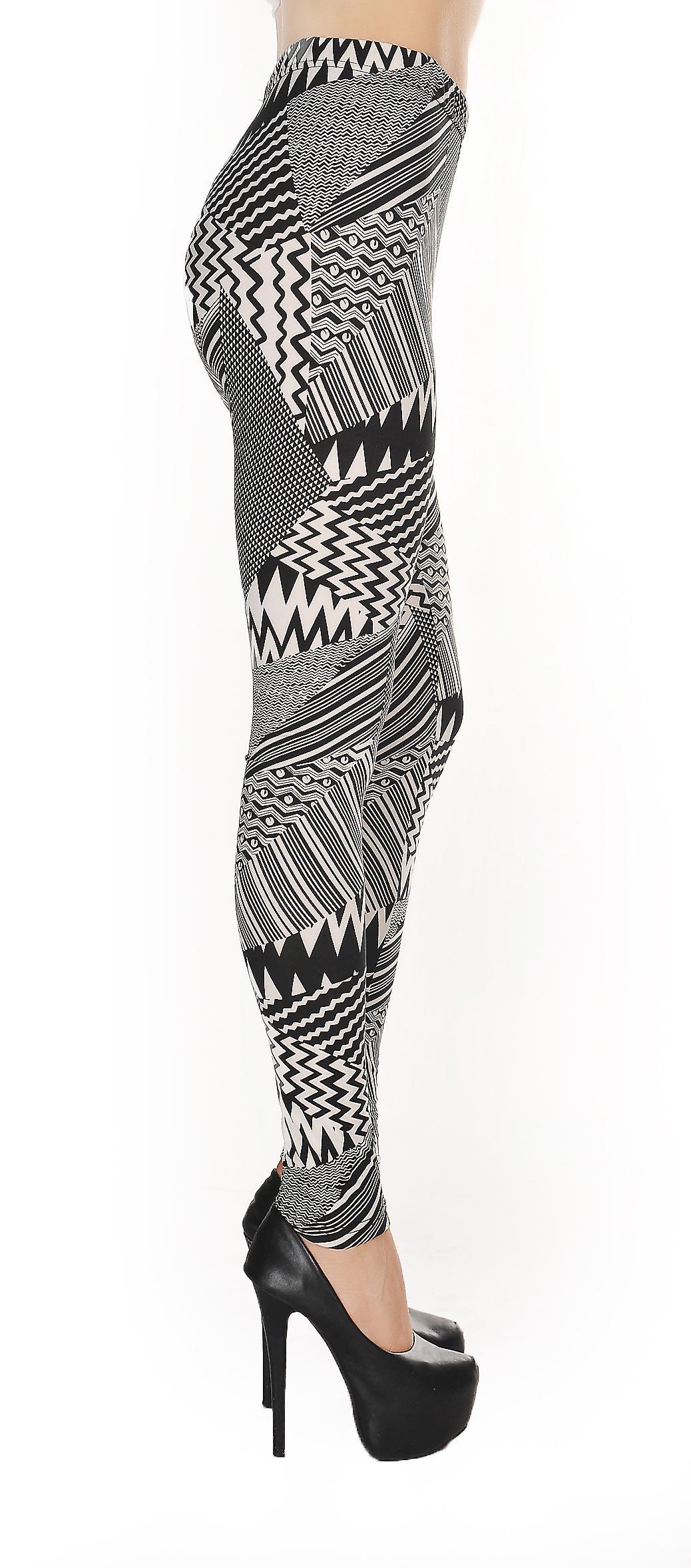 Waooh - Mode - Legging gestreept patroon psychedelic