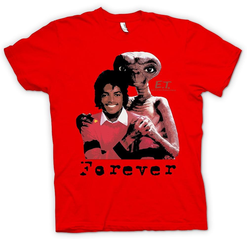 Mens T-shirt-Et Michael Jackson - Forever Alien