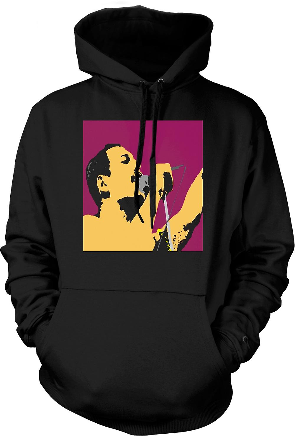 Kinder Hoodie - Freddie Mercury Gesang - Queen - Pop-Art
