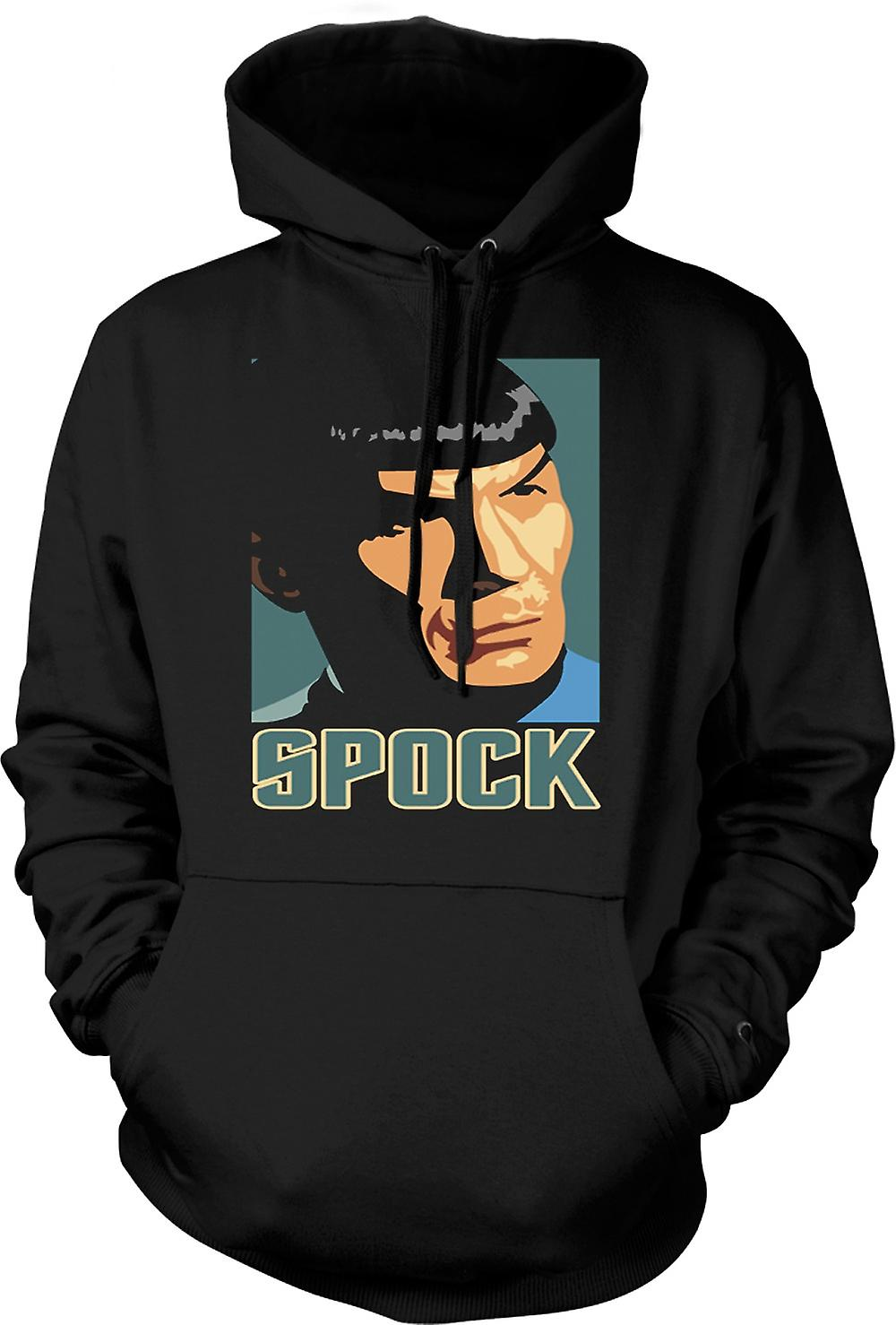 Mens Hoodie - Star Trek - Pop Art - Spock
