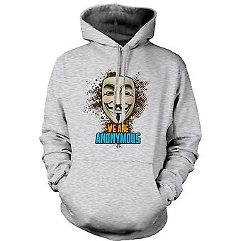 Womens Hoodie - V For Vendetta Anonymous