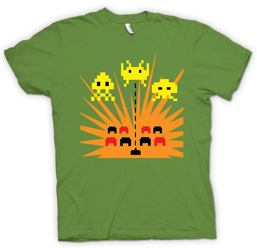 Mens t-skjorte - Space Invaders - spillet Over