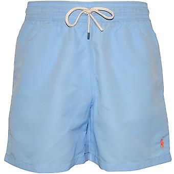 Polo Ralph Lauren Slim-Fit Traveller Swim Shorts, Baby Blue