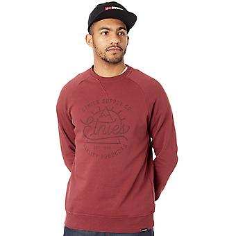 Etnies Burgundy Creep Crew Sweater