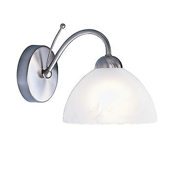 Searchlight 1131-1SS Milanese Satin Silver Single Wall Light