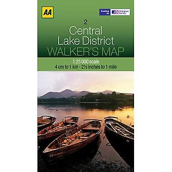 Walkers Map Central Lake District