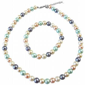 Multi Colored Simulated Pearls Necklace Buy Matching Bracelet