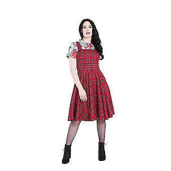 Hell Bunny Irvine Pinafore Dress M