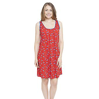 Cyberjammies 4130 Frauen Mia Red Floral Print Nacht Kleid Loungewear Nachthemd
