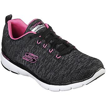 Skechers Womens Flex Appeal 3.0 Lace Up Air Cooled Trainers
