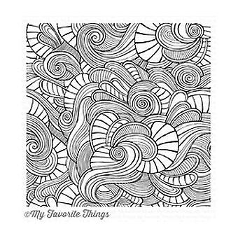 My Favorite Things Wavy Coloring Book Stamp 6x6 Inch Cling Rubber (BG-86)