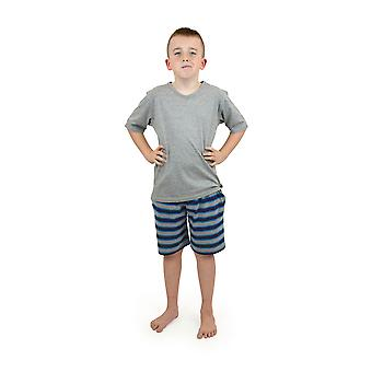 Socks Uwear Boys Cotton V-Neck Stripe Short Pyjamas