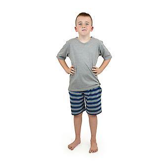 Vestido rayas pijama corto de algodón calcetines Uwear muchachos