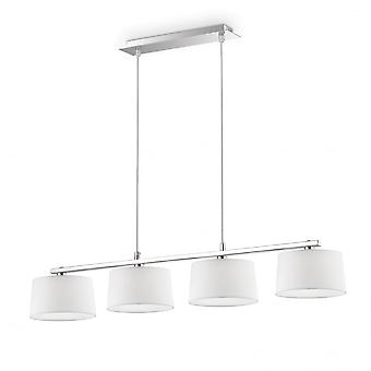 Ideal Lux Hilton Modern Chrome And French White Island Light