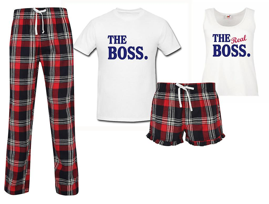 Le patron le véritable patron Couples ensemble Pyjama Tartan