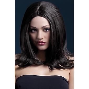 Parrucca capelli lunghi nero febbre Sophia parrucca