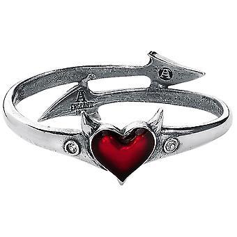 Alchemy Gothic Devil Heart Pewter Bracelet