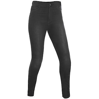 Oxford Black Super Jeggings-Regular Womens Motorcycle Jeans