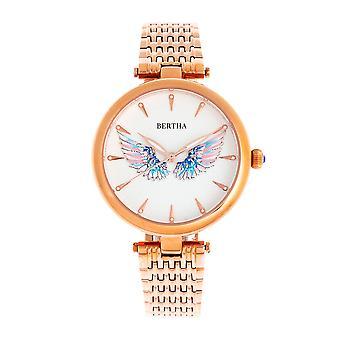 Bertha Micah arm band klocka-Rosen guld