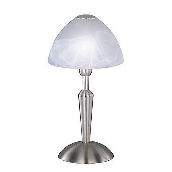 Wofi Morley - 1 lampe de table légère Matt Nickel - 847401640000