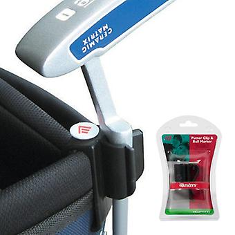 New Masters Golf Putter Clip & Ball Marker  Easily Attach Your Putter to Golf Bag