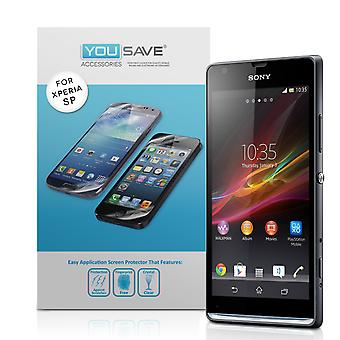 YouSave accessoires Sony Xperia SP Screen Protectors Clarivue Schermbeveiligers x3