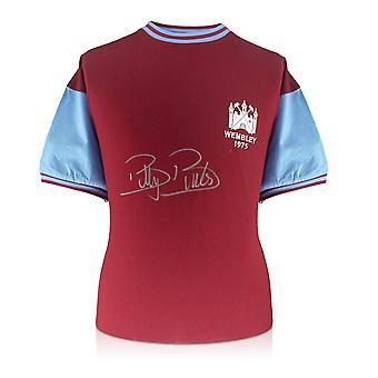 Billy Bonds ondertekend West Ham 1975 FA Cup finale Shirt